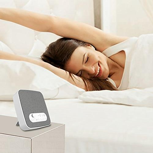 White Machine for Sleeping, Machine with Sounds for Baby Office Travel. USB Charger Timer