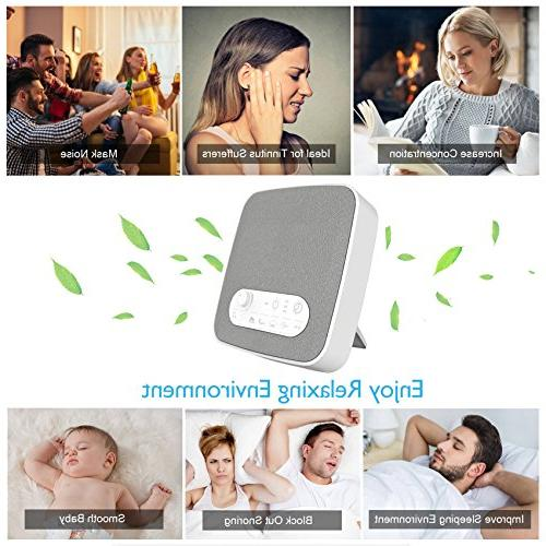 White Noise for Sleeping, Aurola Machine with Non-Looping Soothing Sounds Baby Adult Traveler, Home Office Travel. USB &