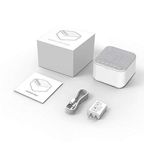 White Noise X-Sense Sleep Sound 40 Non-Looping and High 30 Levels and Timer with Memory