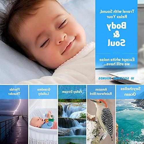 White Noise for Sleeping, Sound Machine with Night Sleep Sound Machine Travel Sleep Auto-Off Timer for Baby Privacy