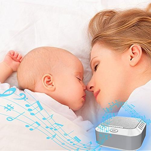 White Noise for Night Light Sleep Sound Therapy Machine Timer Adults Toddler Privacy