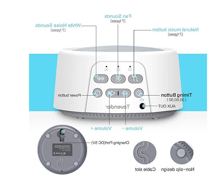 White Noise Machine for Sleeping/Relaxation, Home Therapy Machines w