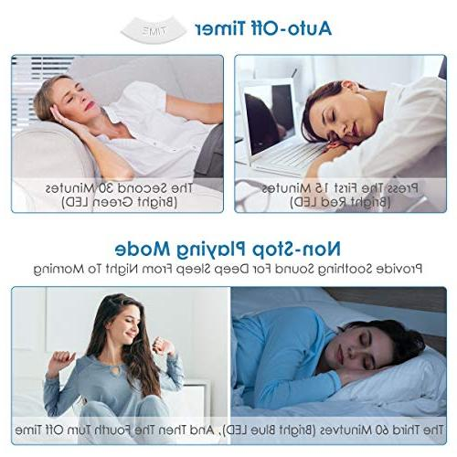White Upgraded Sleep Relax Machine 8 Nature Sounds Sleep Timer