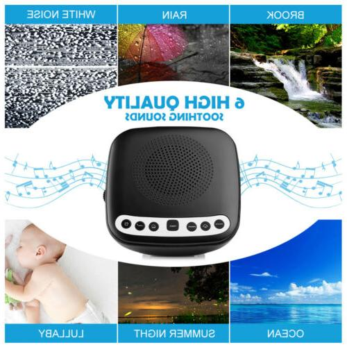 Inlife Portable Sleep Sound Therapy Machine with 6 Voice for