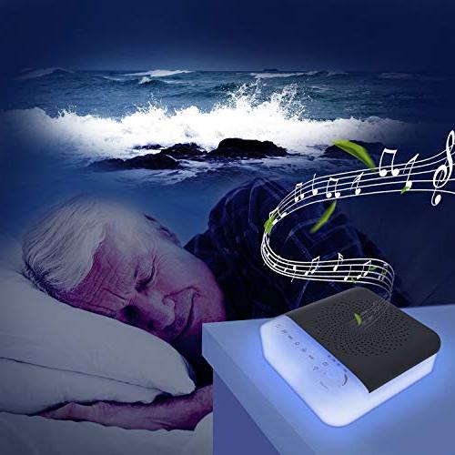 White Noise Sound Machine for with Light, Soothing Sounds White Noise Maker & Home,