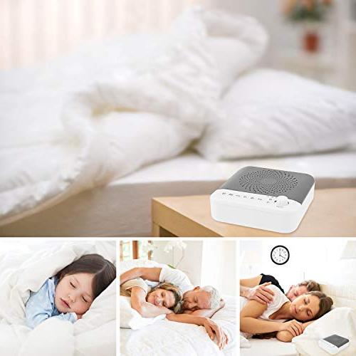 White Sound with LED Soothing Light, Sounds Noise with 3 & Output Home, Office,