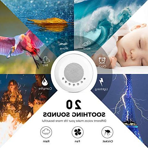 White Sound for Sleeping, 20 Soothing Night Timer Battery or Output