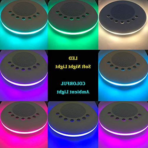 White Noise Sound for Sleeping, 20 Non-Looping Soothing Night Therapy Sound Timer Battery or USB Output Charger