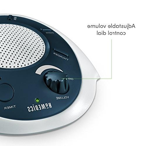 HoMedics White Noise Machine Portable Therapy for Baby & Adapter Charging Timer   Sound Blue