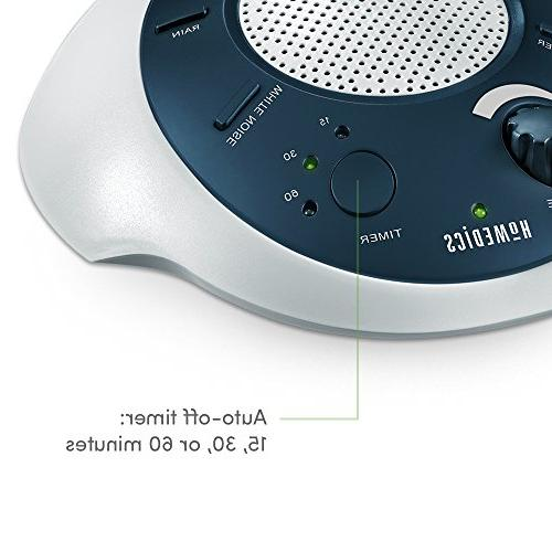 HoMedics Noise Machine | Portable Baby | 6 & Nature Adapter Options, Timer | Spa Blue