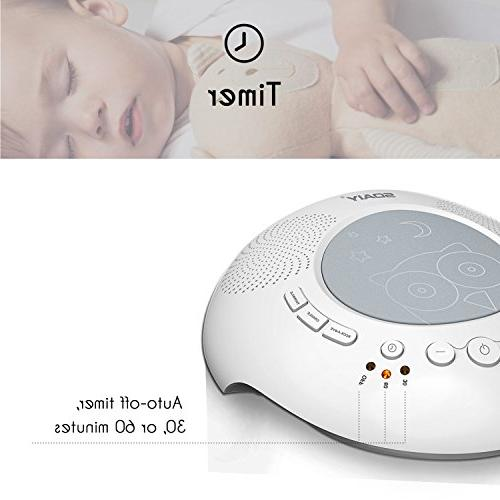 White Noise for Sleeping Relaxation with Night Light,6 High Sound and Adults