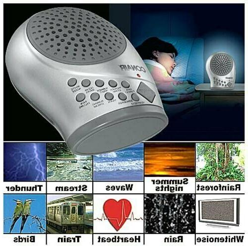 White Noise Sound Machine Sleep Therapy Plays 10 soothing so