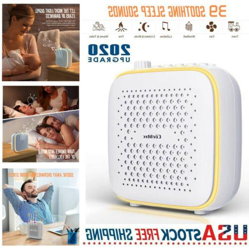 white noise sound machine with 39 soothing