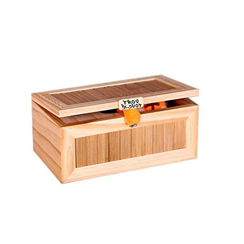 Alician Wooden Useless Box Leave Me Alone Most Touch Tiger Gift with