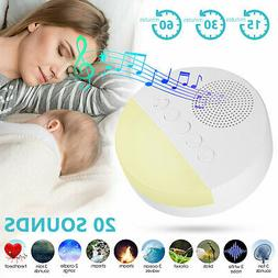 LED Nature Fan Sounds White Noise Machine for Sleeping Home