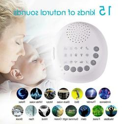 Sound Relax Machine White Noise Baby Easy Sleep Night Nature