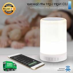 LED Night Light for Kids with Speaker and Touch Control by I