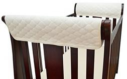 TL Care Organic Cotton Side Crib Rail Covers