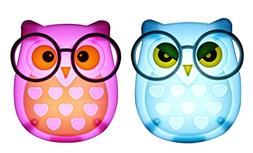 2 PCS Owl LED Plug in Night Light for Kids- Wall Lamp Take G