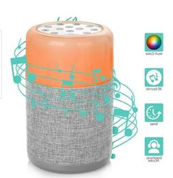 Portable White Noise Machine with Colorful Baby Night Light,
