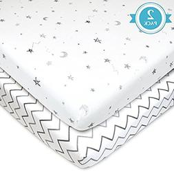 American Baby Company 2 Pack Printed 100% Natural Cotton Jer