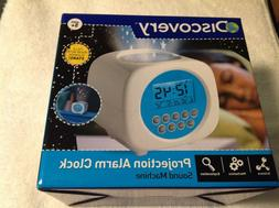 Discovery Projection Alarm Clock Sound Machine With Stars &