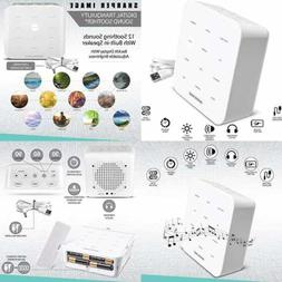 SHARPER IMAGE Ultimate Sleep WHITE Noise Sound Machine For A