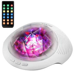 SOAIY Sleep Sound Machine & Night Light Projector with Bluet