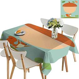 UHOO2018 Square/Rectangle Polyester Tablecloth Table Cover S