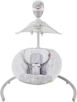 Fisher-Price Starlight Revolve Swing with SmartConnect, Silv