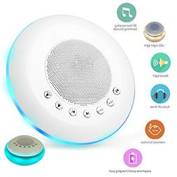 White Noise Sound Machine for Sleeping, 20 Non-Looping Sooth