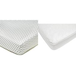 American Baby Company White Waterproof Fitted Crib and Toddl