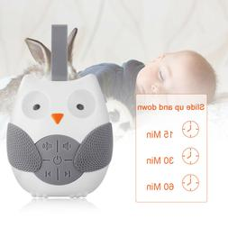 Portable Owl White Noise Sound Machine Baby Soother Sleep He